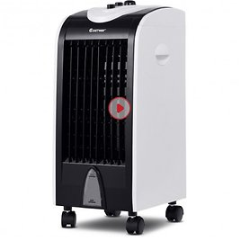 3-in-1 Portable Evaporative Air Conditioner Cooler with Filter Knob for Indoor