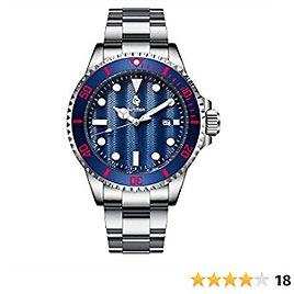 Airtdon Mens Watches Japanese-Quartz Water Proof 10ATM Diving Casual Business Watch for Men
