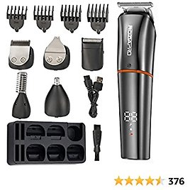 Roziaplus Beard Trimmer for Men Hair Clippers 6 in 1 Multifunctional with Beard and Nose Trimmer Kit Professional USB Beard Trimmers Groomers Set Waterproof Precision Trimmer