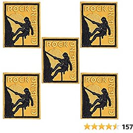 J.CARP 5Pcs Success Rock Climbing Embroidered Iron On Patch for Clothes, Iron-on Patches / Sew-on Appliques Patches for Vest, Jackets, Backpacks, Caps, Jeans to Cover Holes / Logo