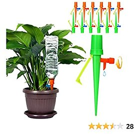 Buluri 24 Pack Plant Watering Devices, Slow Release Control Valve Switch Automatic Irrigation Watering Drip System,for Preventing Stop Water with Anti-Tilt Bracket for Outdoor Indoor Plants