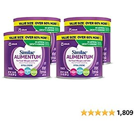 Similac Alimentum Hypoallergenic for Food Allergies and Colic Infant Formula Powder, 19.8 Oz (Pack of 4) - Amazon