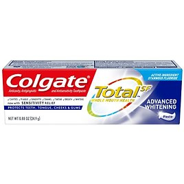 Free Colgate Total Advanced Whitening Toothpaste