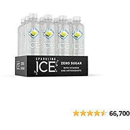 Sparkling Ice, Lemon Lime Sparkling Water, with Antioxidants and Vitamins, Zero Sugar, 17 Fl Oz Bottles (Pack of 12)