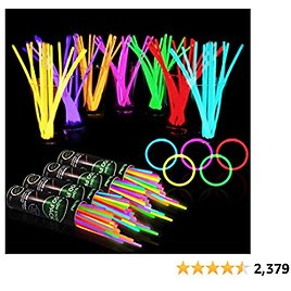 """400 Glow Sticks Bulk Party Supplies - Glow in The Dark Fun Party Favors Pack with 8"""" Glowsticks and Connectors for Bracelets and Necklaces for Kids and Adults"""