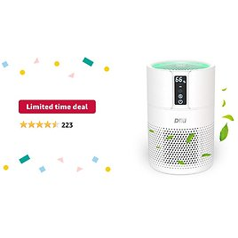 Limited-time Deal: DIKI HEPA Air Purifier for Large Home Up to 270 Ft², True H13 Filter 100% Ozone Free, Remove 99.97% of Pollen, Pet Dander, Smoke Odors, Dust and Other Particles(Available for CA)