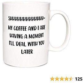 Bosmarlin Large Funny Mug Gift for Coffee Lover, Big Humor Cup Office Worker , 17.5 Oz, Dishwasher and Microwave Safe