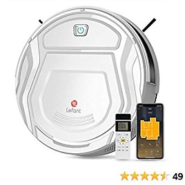 Lefant M210 Robot Vacuum Cleaner, 1800Pa Strong Suction,Slim, Quiet, Automatic Self-Charging Robotic Vacuum, Wi-Fi/App/Alexa/Remote Control,Ideal for Pet Hair Hard Floor and Low Pile Carpet