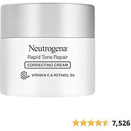 Neutrogena Rapid Tone Repair Vitamin C Brightening Tone Evening Face Neck and Chest with Vitamin C Retinol and Hyaluronic Acid for Dark Spots Wrinkles Oz, Correcting Cream, 1.7 Ounce