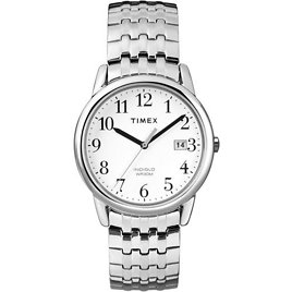 Imex Men's T2P294 Easy Reader Dress Silver-Tone Stainless Steel Expansion Band Watch