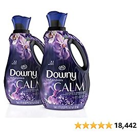 Downy Infusions Liquid Laundry Fabric Softener, Calm Scent, Lavender & Vanilla Bean, 166 Total Loads (Pack of 2)