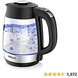 Electric Kettle, Milin 1500W Water Boiler with Temperature Control, LED Screen 1.7L 8 Cups Electric Tea Kettle BPA Free, Glass Electric Hot Water Kettle