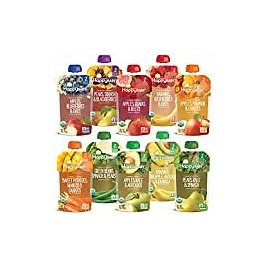 Plum Organics Mighty 4, Organic Toddler Food, Variety Pack, 4 Ounce (Pack of 18): Grocery & Gourmet Food
