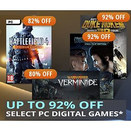 Up to 92% Off Select PC Digital Games