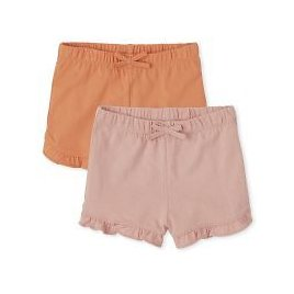 2-Pack The Childrens Place Toddler Girls Ruffle Shorts