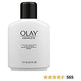 Olay Complete Daily Moisturizer with Sunscreen, Normal, 6.0 Fl Oz