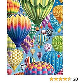 DIY 5D Diamond Painting Kits for Adults Full Drill Embroidery Paintings Rhinestone Pasted DIY Painting Arts Craft for Home Wall Decor 12x16 Inches (hot Air Balloon)