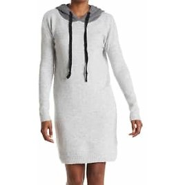 Hooded Sweater Dress (2 Colors)