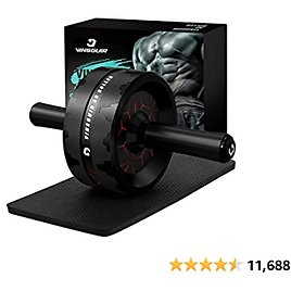Ab Roller Wheel, Abs Workout Equipment for Abdominal & Core Strength Training, Exercise Wheels for Home Gym Fitness, Ab Machine with Knee Pad Accessories