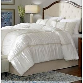 Romany 3-Piece Ivory Cotton Ruched Queen Comforter Set