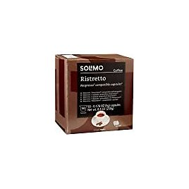 Amazon Brand - Solimo Ristretto Capsules 50 CT, Compatible with Nespresso Original Brewers : Grocery & Gourmet Food