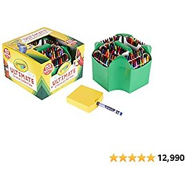 Crayola Ultimate Crayon Collection Coloring Set, Kids Indoor Activities At Home, Gift Age 3 Plus - 152 Count