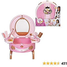 Disney Princess Vanity Style Collection Light Up and Style Vanity - Lights & Realistic Sound Styling Tools
