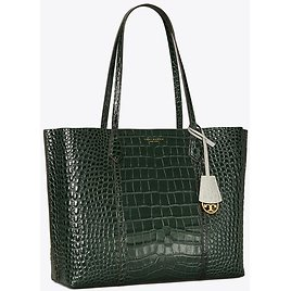 Tory Burch Perry Embossed 3-Compartment Tote Bag