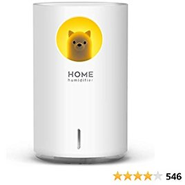 700mL Humidifiers for Bedroom Home Office,SIXKIWI Cute Bear Cool Mist Humidifier USB Ultrasonic,2 Mist Mode Timer 18hrs Auto Shut-Off 7 Color LED Lights for Babies(White)