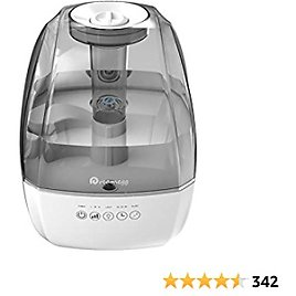 Cool Mist Humidifier - 4.5L Large Ultrasonic Humidifier for Bedroom, Quiet Baby Humidifier With Adjustable Mist, Timer, Sleep Mode, Last Days & Nights, Filterless BPA Free Humidifier For Home Office