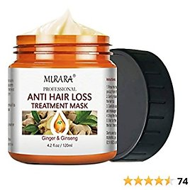 Magic Hair Treatment Mask, Ginger Hair Mask for Dry Damaged Hair and Growth, Ginger Essence Extract, Repair Restore Dry & Damaged Hair, Conditioner Molecular Hair Roots-120ML