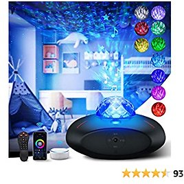 Star Projector Smart Galaxy Projector Galaxy Light Projector for Bedroom Ocean Wave Night Light Projector with Remote Control Timer Sky Night Light Star Bluetooth Speaker Music Speaker for Kids Adult