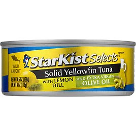 12 Pack StarKist E.V.O.O. Solid Yellowfin Tuna with Lemon Dill and Extra Virgin Olive Oil