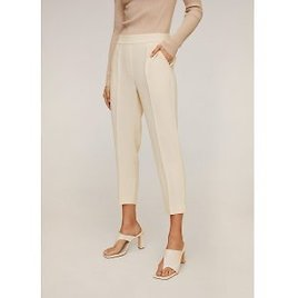 Straight-cut Crop Trousers (2 Colors)