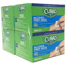 4-Pack X 100-Count Curad Thick Alcohol Prep Swabs Pads for $4.49