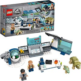 164-Pieces LEGO Jurassic World Lab Dinosaurs Breakout Building Kit for $16.00
