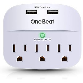 One Beat 3-Outlet Surge Protector
