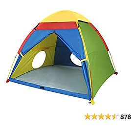 """Mount Rhino Kids Play Tent & Playhouse-60""""x60""""x47"""" Kids Pop Up Tent Children Camping Playhouse Indoor Outdoor Play Tents for Boys Girls Large Space Kids Tents with Rainfly Perfect Kid's Gift"""