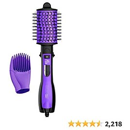 INFINITIPRO BY CONAIR The Knot Dr. All-in-One Dryer Brush, Wet/Dry Styler, Hair Dryer and Volumizer, Black/Purple