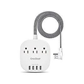 One Beat Desktop Power Strip with 3 Outlet 4 USB Ports for $16.19