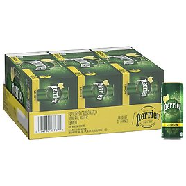 30-Pack Perrier Lemon Flavored Carbonated Mineral Water for $13.30