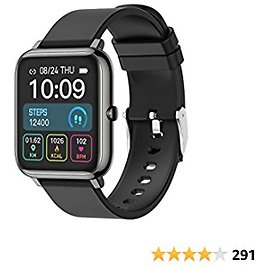 Smart Watch, Fitness Tracker Touch Screen Watch Heart Rate Monitor Blood Pressure and Sleep Monitor Waterproof Smartwatchs Compatible with IOS Andorid Digital Smartwatch for Women Men