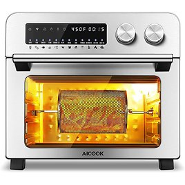 55% OFF Air Fryer Toaster Oven, 12-in-1 Convection Toaster Oven 24 QT