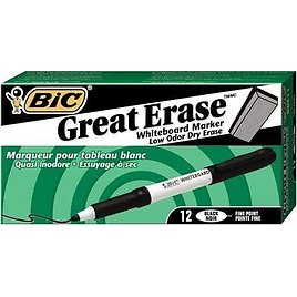 36-Pack BIC Great Erase Grip Low Odor Dry Erase Markers for $9.60