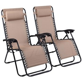 2-Pack Naomi Home Outdoor Lounge Chair