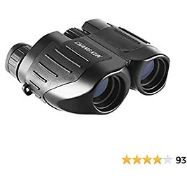 Binoculars for Adults and Kids, 10x25 Compact Binoculars for Bird Watching and Outdoor Play, Black