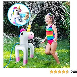 Vimite Inflatable Unicorn Yard Sprinkler for Kids, Pool Partner, Inflatable Water Toys Outdoor for Boys Girls, Can Be Used with An Inflatable Pool or Independently, Perfect for Summer Fun