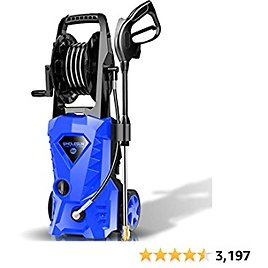 WHOLESUN 3000PSI Electric Pressure Washer 2.4GPM Power Washer 1600W High Pressure Cleaner Machine with 4 Nozzles Foam Cannon,Best for Cleaning Homes, Cars, Driveways, Patios (Blue)