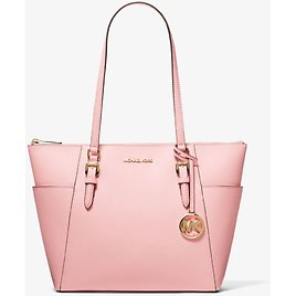 Charlotte Large Saffiano Leather Top-Zip Tote Bag