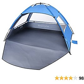Beach Tent Sun Shelter for 2 Person, Portable Foldable Lightweight Waterproof Windproof, Easy Set Up for Family, Camping, Hiking, Mountaineering, Outdoor